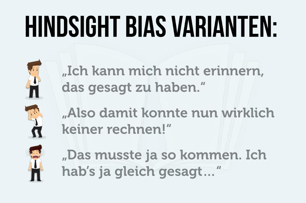 Hindsight Bias 3 Arten