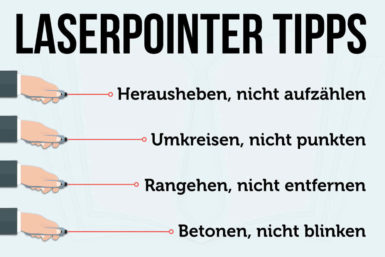 Laserpointer: Tipps, wie Sie ihn im Vortrag nutzen