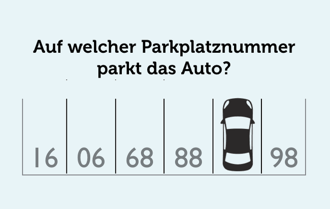 Knobelaufgabe Denksport Parkplatz