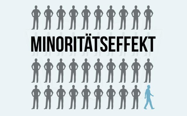 Minoritaetseffekt Gruppenzwang Minderheit