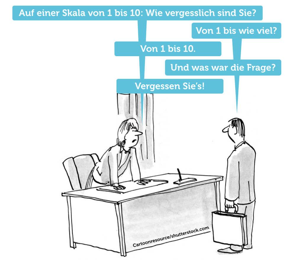Vergesslich von 1 10 Humor Witz Comic Vergessenskurve