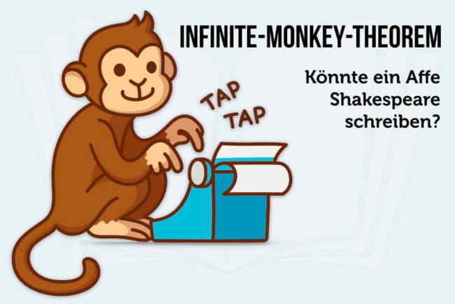 Infinite-Monkey-Theorem: Affe schreibt Shakespeare