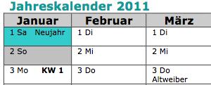 Jahreskalender2011