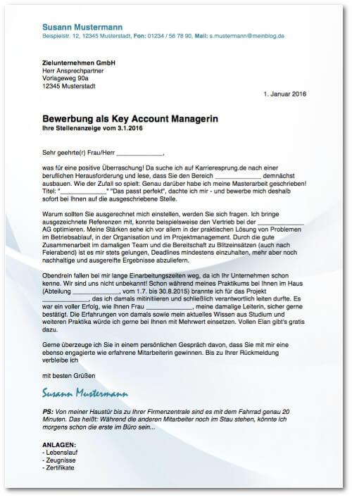 Bewerbungsanschreiben Stellenanzeige Muster Vorlage 01 kostenlos Bewerbungsschreiben
