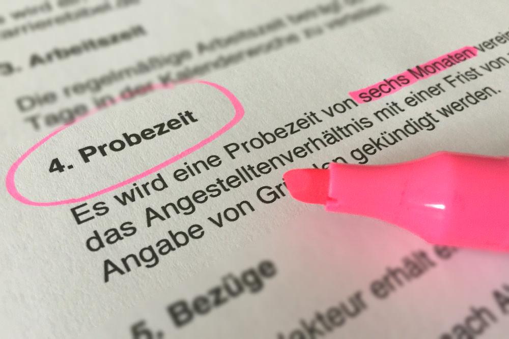 Probezeit Arbeitsvertrag / Probezeit Kündigung / Rechte & Pflichten in der Ausbildung