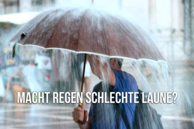 Wetter-Effekt: Regen macht keine schlechte Laune
