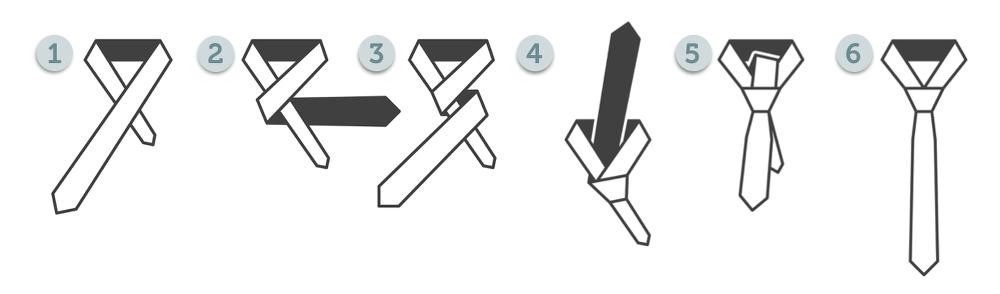 Krawattenknoten-Four-in-hand