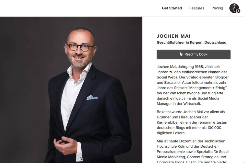 About.me: Online-Profil zur Bewerbung