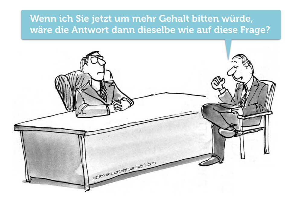 Gehaltserhoehung Cartoon Gehaltsverhandlung Jahresbeginn