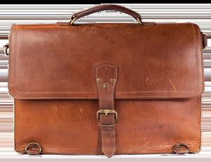 Vintage-Ledertasche-Aktentasche