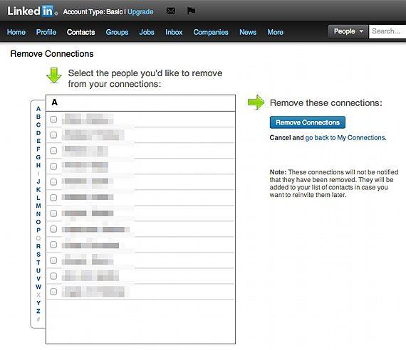 Linkedin-Kontakte-entfernen
