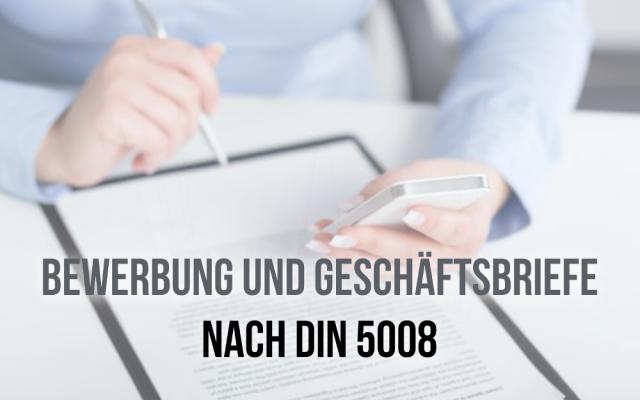 Bewerbung DIN 5008 Norm Regeln