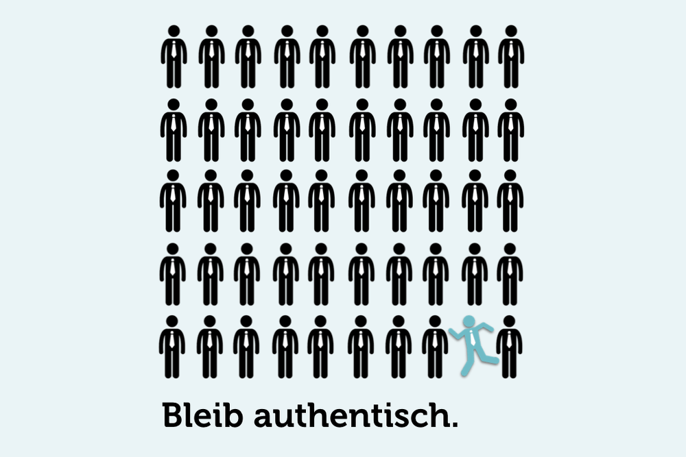 Bleib Authentisch Authentizitaet Grafik