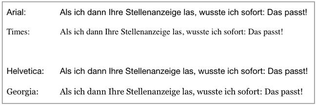 Din 5008 Zeilenabstand Schriftarten Vergleich Beispiel