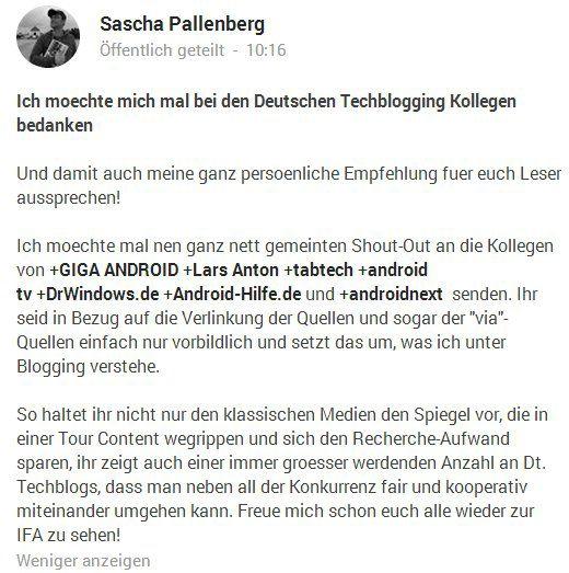 Vernetzung Bloggen Pallenberg