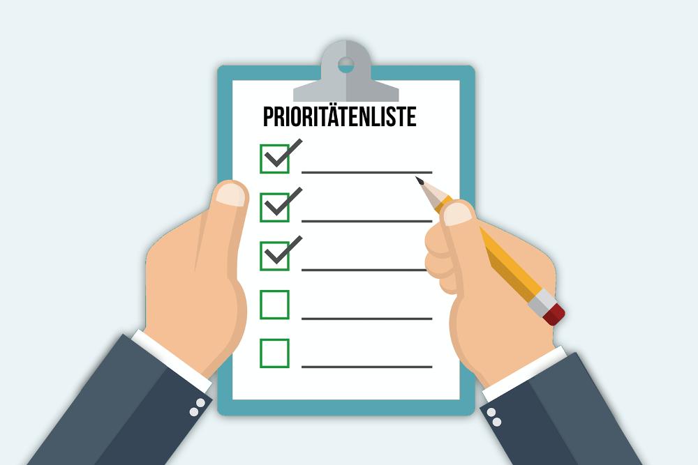 Prioritäten-Zeitmanagement-Selbstmanagement