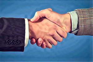 Handschlag-Kooperation
