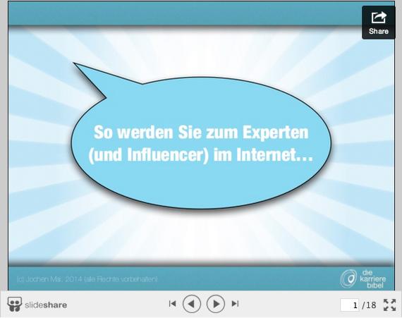 Online-Experte-Slideshare-Vorschau
