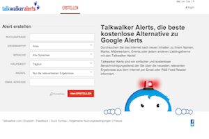 Screenshot von Talkwalkeralerts