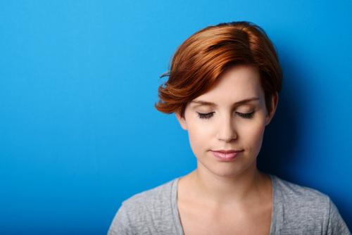 Introvertiert-Intraversion-Frau