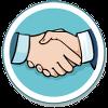 Koerperhaltung Handschlag Hand geben Icon