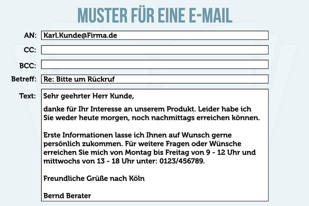 Email bestellung muster Widerruf per