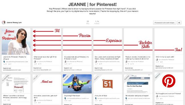 Guerilla-Bewerbung-Pinterest-Stil-Jeanne