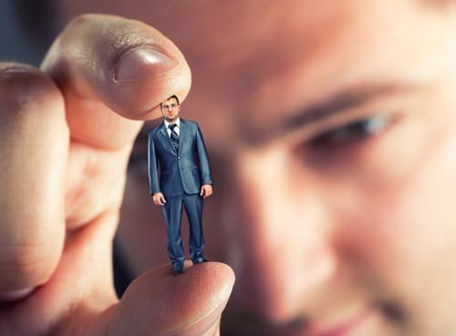 Unternehmer-Manager-Miniatur-Chef