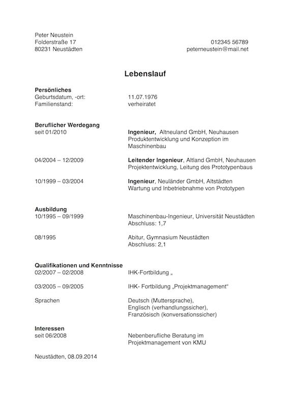 Lebenslauf Für Quereinsteiger: Muster Und Tipps | Karrierebibel.De