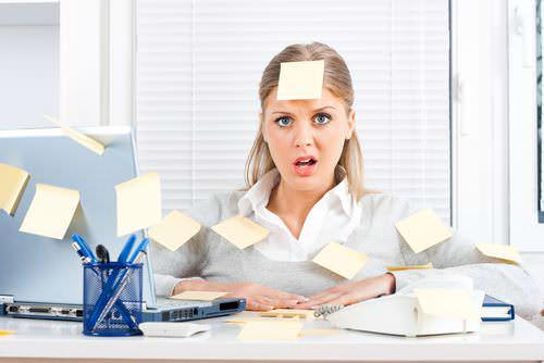 Chaos-Schreibtisch-Psychologie