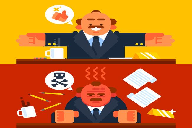 Chef-Check-guter-schlechter-Boss