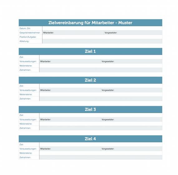 Zielvereinbarung: Muster für Mitarbeiter | karrierebibel.de