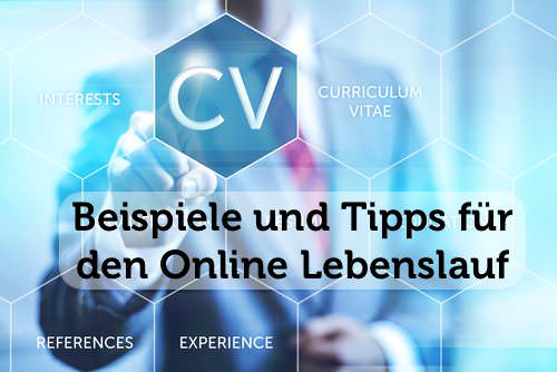 Online Lebenslauf Textversion