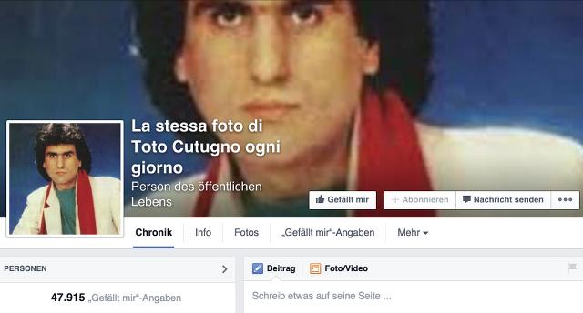Toto Cutugno Facebook