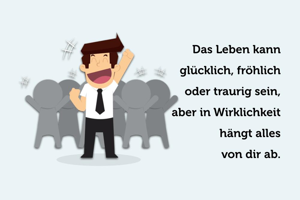 Glueck Gluecklich Leben Tipps Spruch Zitat Grafik