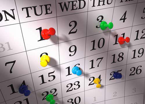 Jobmessen-Kalender-Planer