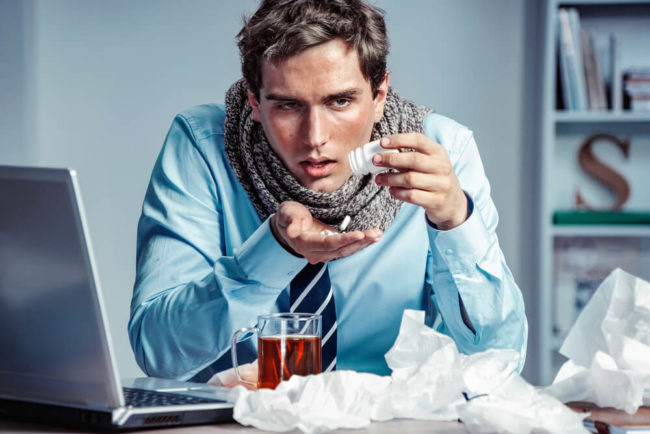 Krank ins Büro? Bloß nicht!