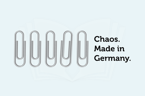 Bueroklammer Chaos Made in Germany Grafik