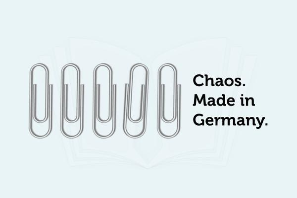 Bueroklammer Chaos Made in Germany Grafik