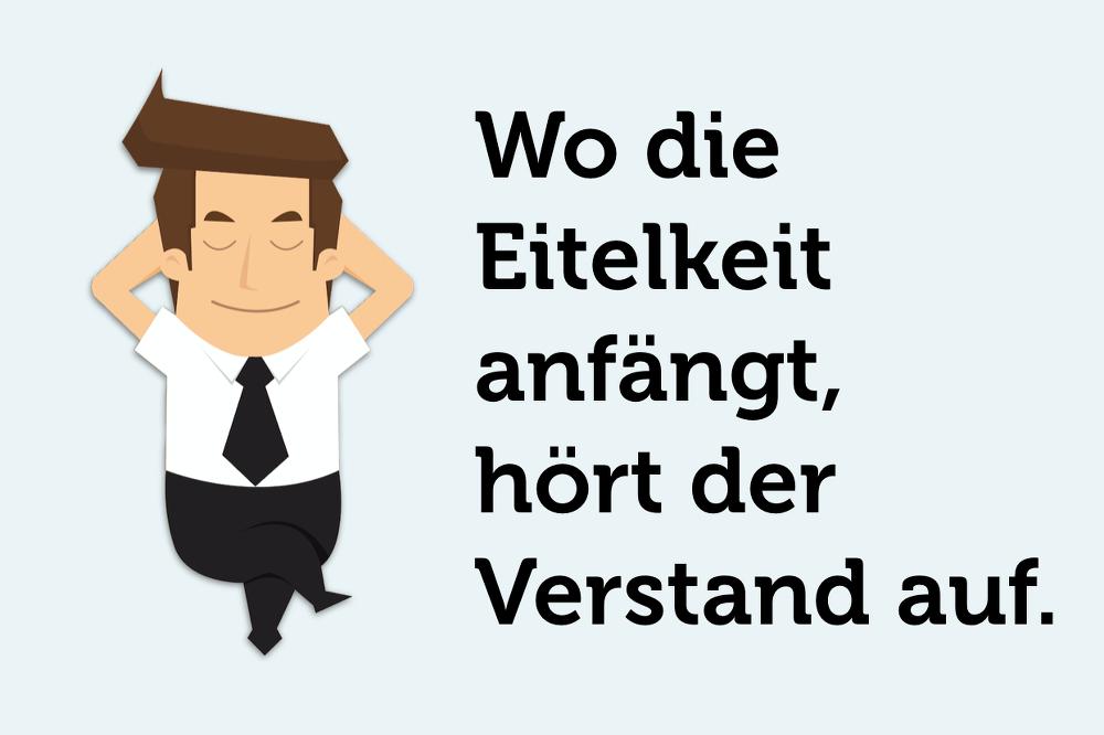 Eitelket-Verstand-Stolz-Warnzeichen