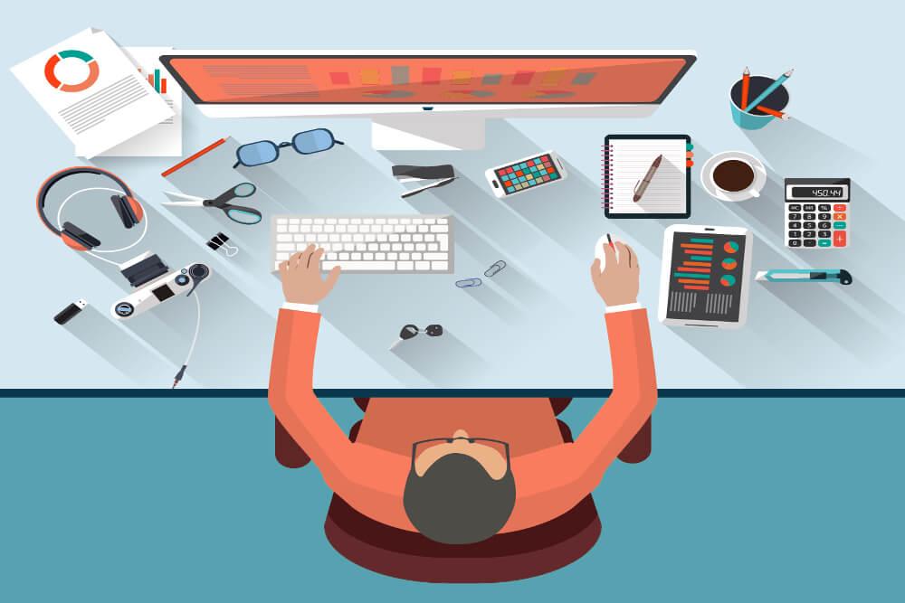 Schreibtisch Typen Ordnung Selbsttest