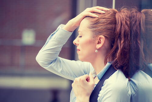 Burnout-Frau-Firma
