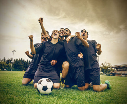 Teamsport-Mannschaftssport-Fußball