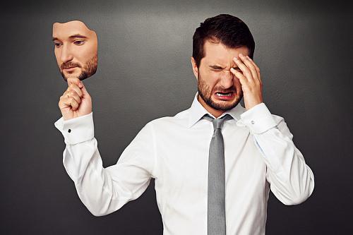 Hochstapler-Syndrom-Impostor-Maske