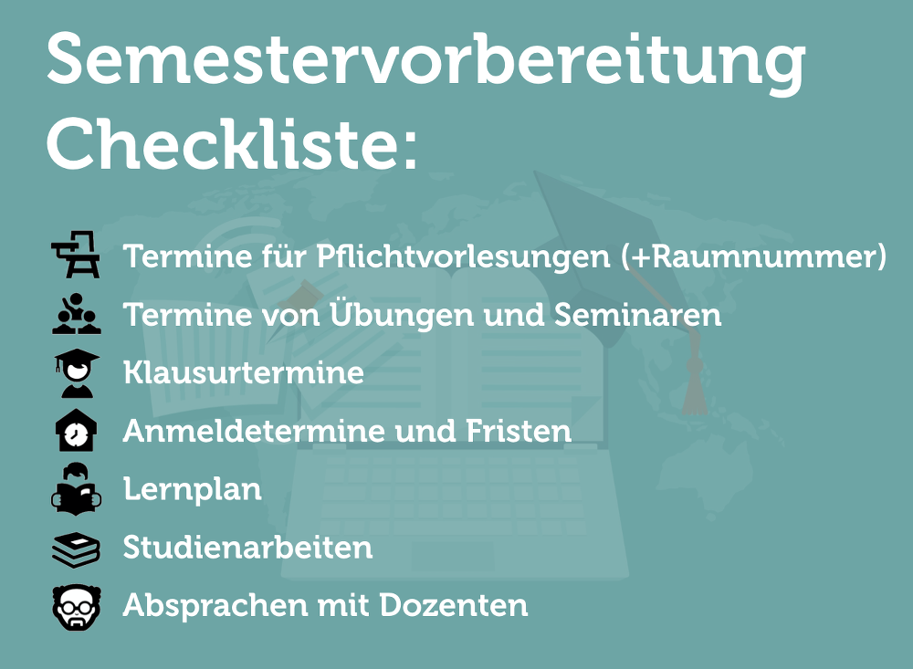 Semestervorbereitung-Checkliste-Grafik