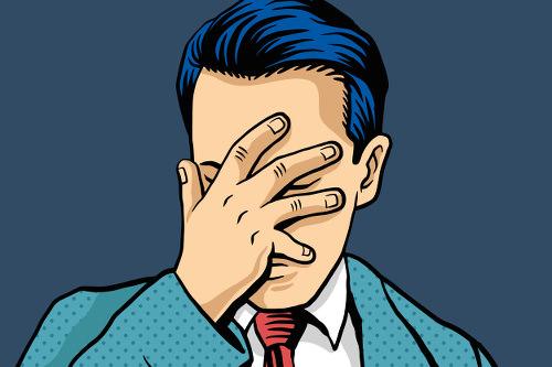 Bewerbungskiller-Fehler-Frust-Facepalm