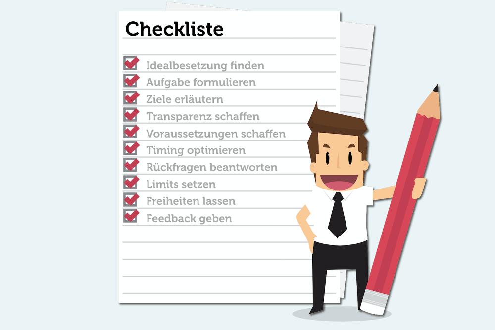 Delegieren-Checkliste-Grafik