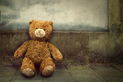 Einsam-Teddy-allein