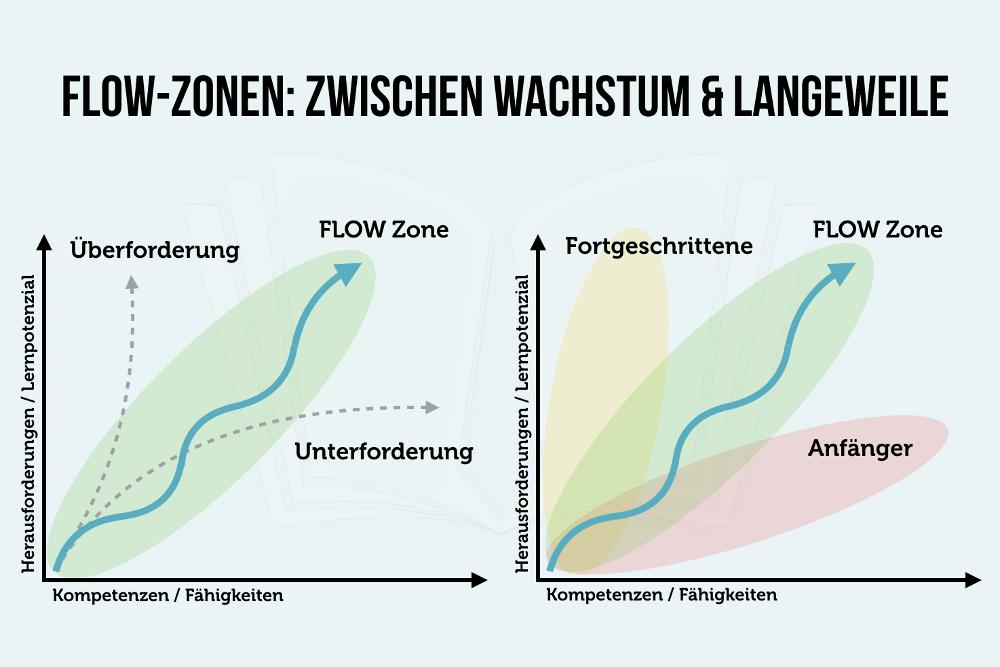 Flow Zonen Infografik Wachstum Herausforderung Langeweile