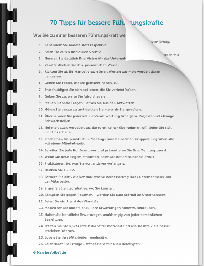Führungskraft werden Tipps Ratgeber eBook